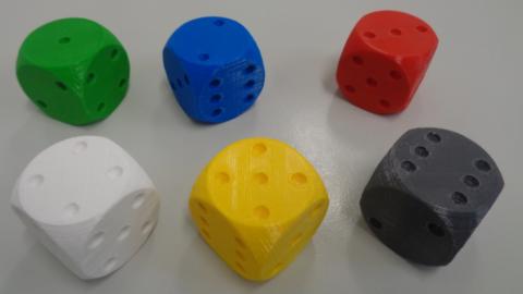 Web-Seminar: 3D-Druck in der Schule am Beispiel Stochastik mit gedruckten Würfeln