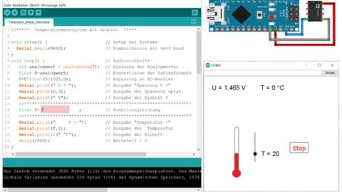 Web-Seminar: Temperaturmessung mit einem Microcontroller